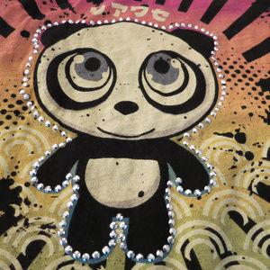 Public Zoo Shirts & Tops - Panda Rhinestone Public Zoo Girls Small Cute
